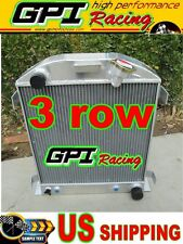 3 ROW  1932 FORD CHOPPED CHEVY ENGINE AT 32 Aluminum Radiator new