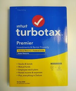 Turbotax Premier Investments & Rental Property Federal Returns & State Year 2020