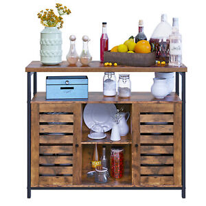 Floor Standing Cabinet Kitchen Storage Cabinet with Cupboard and Shelves LSC79BX
