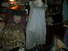 JEAN PAUL GAULTIER  For TARGET Sassy White+Navy Blue Draped Dress Size S