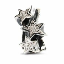 Trollbeads Sterling Silver Bead and Diamonds Shooting Stars 51750