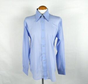BNWT Wedgewood Blue Formal Dagger Collar Shirt by Moss Bros Size M  Chest 39
