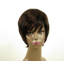 perruque femme afro 100% cheveux naturel courte méchée noir/rouge LAET 02/1b410