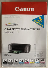 Genuine CANON CLI-42 VALUE PACK Multipack 8 Ink Cartridges for PIXMA PRO-100