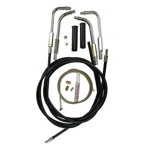 Harley-Davidson V-Twin Motorcycle Throttle & Idle Cable Kit, Push In Bends