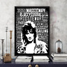 Rod Stewart Tribute Word Art in Songs Portrait/Gift/Collectable FREEPOSTUK