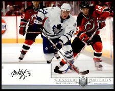 2006-07 Be A Player Portraits Signature Portraits #SPSJ Matt Stajan Leafs Auto