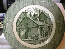"""The Old Curiosity Shop Dinner Plate 10"""" Green Vintage Royal China"""
