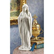 "Blessed Virgin Mary With Folded Hands Design Toscano 11½"" Bonded Marble Statue"