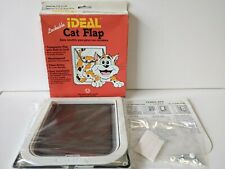 Vintage 1995 Ideal Pet Products Cat Flap Swinging Lockable Weatherproof NEW