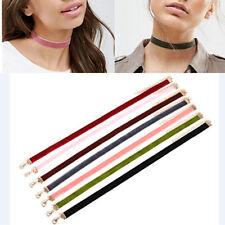 7pcs Bulk Velvet Choker Necklaces Set Multi-Color Elegant 90s Style Jewelry Boho