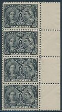 CANADA #50 STRIP OF 4 VF OG NH WITH CREASE CV $1,200.00 BR6357