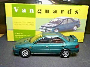 1/43 Subaru Impreza 2.0 GT Turbo vert Mica 1993-2000 Vanguards VA12102 Neuf MiB
