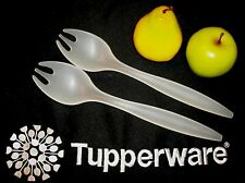 Tupperware Sheer Salad Serving Forks Tongs ~Spaghetti Pasta Servers