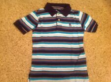 Childrens Place Boys Size Small 5/6 Blue Striped Collared Shirt Gently Worn
