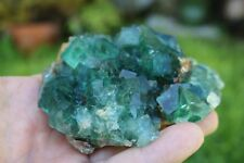 Green Cubic Fluorite Crystal Display Specimen 409g US Seller!  Fast Ship!