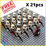 21/22pcs lot Star Wars 501st TROOPER clone Trooper Printd minifigure lego comp