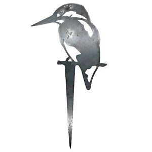 Kingfisher Silhouette Stake Metal Garden Bird Ornament