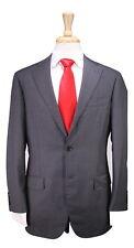 * RING JACKET * Japan Gray Pinstripe 2-Btn Handmade Wool Luxury Suit 38S