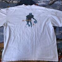 Vintage Jordan Men's 3XL XXL White Short Sleeve T-Shirt Fear Is An Illusion