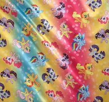 My Little Pony Traditional Ombre Toss Brush Back SATIN 1/2 YARD