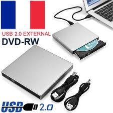 USB 2.0 Graveur Lecteur Externe DVD RW CD Drive Burner DVD Rewriter pour PC
