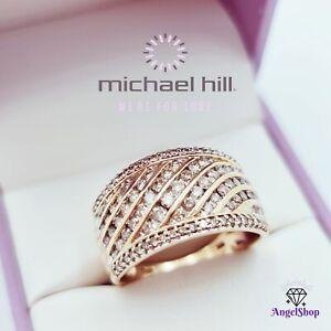 MICHAEL HILL 10ct Gold Diamond Ring 1.00ct Size O1/2 - 7.5 New MHJ Box