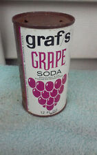 GRAF'S GRAPE FLAT TOP TOPS  SODA CAN CANS