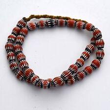 "UNS170 Nepalese Tibetan Chevron Glass Bead  Necklace 23"" Tibet Nepal by Eksha"