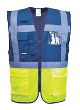 Portwest c276 Hi Vis PARIS Executive chaleco Radio Loop ID Bolsillo