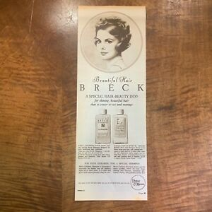 VINTAGE 1940's 'BRECK HAIR SHAMPOO' BEAUTY MAGAZINE ADVERT POSTER PRINT
