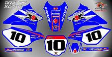 suzuki drz125 decals graphics laminated stickers motocross mx 125 BLUE 01-07