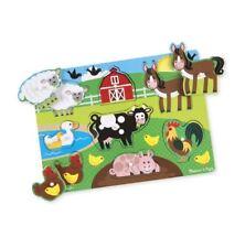 Melissa & Doug Bois Peg Puzzle-Farm Animaux 2+