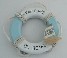"NAUTICAL LIFE RING ""WELCOME ON BOARD"" SIGN BEACH SEASIDE"
