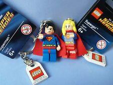 LEGO SUPERMAN Y SUPERGIRL LLAVEROS REGALO LOTE SAN VALENTIN NEW