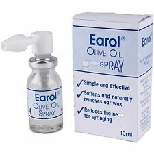 Earol Olive Oil Ear Wax Removal Spray Kits Blockages Syringe 10ml