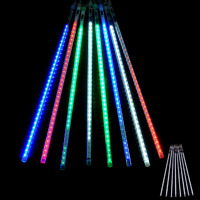 8 Falling Rain Drop Icicle Snow Fall String LED Cascading Xmas Tree Lights Decor