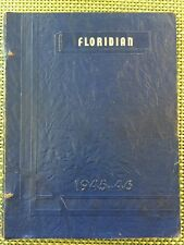 1945-1946 Florida, Ohio Local School Yearbook K-12 OH Jr High Elementary Lot A