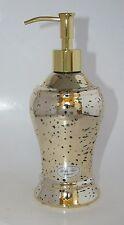 BELLA LUX TRANSPARENT CHAMPAGE GLASS+GLITTER KITCHEN,BATH SOAP,LOTION DISPENSER