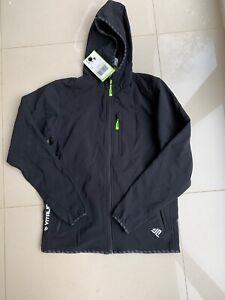Black Mens Ski Jacket No Wind Jacket Extra Small (R65)