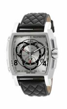 Invicta S1 Tonneau 48mm Stainless Steel Case Black Leather Band - (15789)