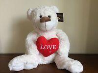White/Cream Teddy Bear Love Heart/Valentines Gift Called Kissabelle Lge Kissing