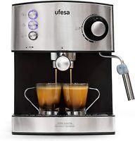 Ufesa CE7240 - Cafetera Espresso, 850W, Depósito extraíble de 1,6 l, 20 Bares,