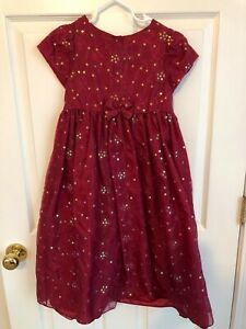 ~Girls Burgundy Red Dress~ Special Occsasion ~ Sequins ~ Size 6x