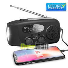 Emergency Solar Hand Crank Power Bank Weather Radio Light With USB Charger Torch