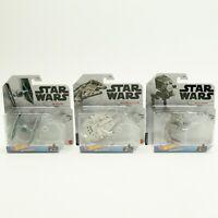 Hot Wheels Star Wars Starships Millennium Falcon Tie Fighter AT-ST Raider Lot 3