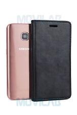 Funda cartera piel tapa libro gel TPU tarjetas cierre magnético Galaxy S7 negro
