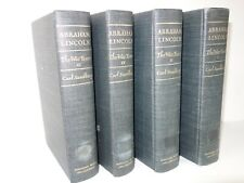 Abraham Lincoln The War Years Complete Book Set of 4 Carl Sandburg Civil War Lot