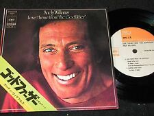 """ANDY WILLIAMS Love Theme from """"The Godfather"""" / Japan 4-track SP 1972 CBS SOPE 7"""