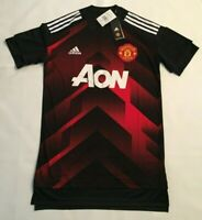 ADIDAS MANCHESTER UNITED PRE GAME WARMUP/TRAINING JERSEY BS2608 MENS SIZE SMALL